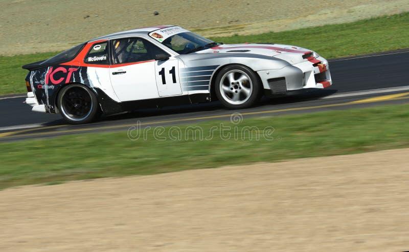 Porsche 944 Turbo-S on racetrack royalty free stock image