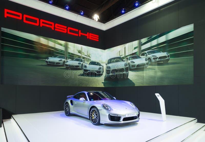 Porsche 911 turboladdare S på skärm arkivbild