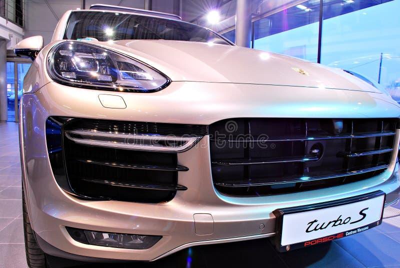 Porsche w przedstawienie pokoju zdjęcia royalty free