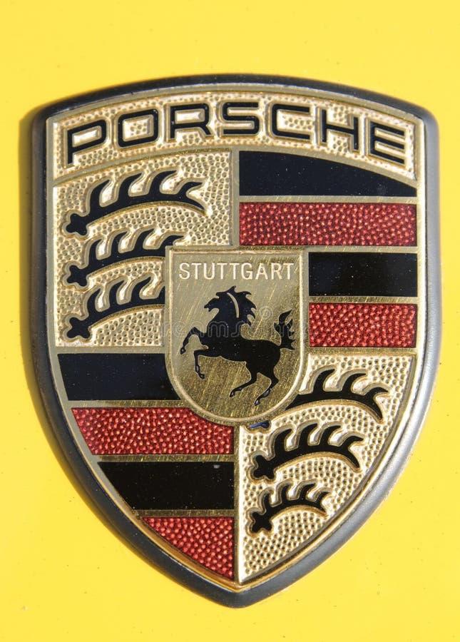 Porsche-Zeichen stockbild