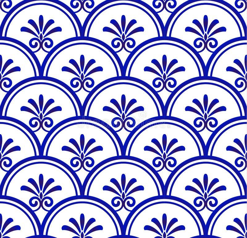 Porselein naadloos patroon stock illustratie