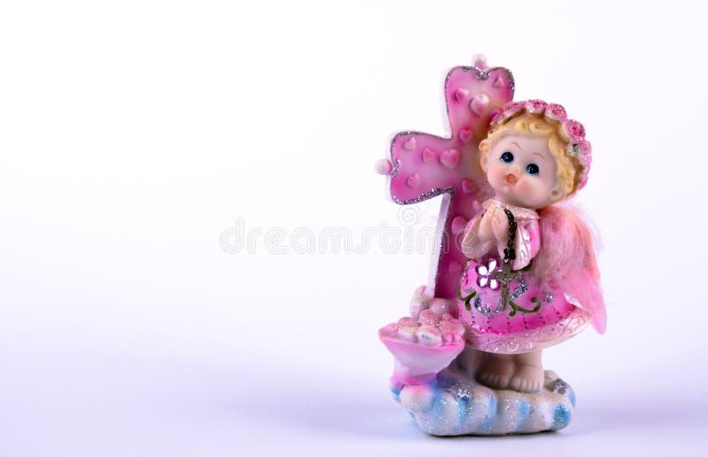 Porseleinstuk speelgoed meisjesroze stock fotografie