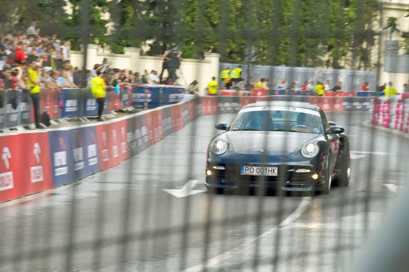 Porshe 911 Carrera at Verva Street Racing 2011 stock image