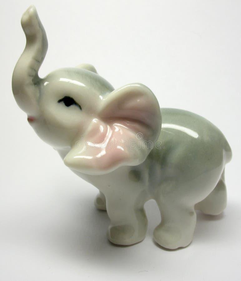 Porslin Elefant fotografering för bildbyråer
