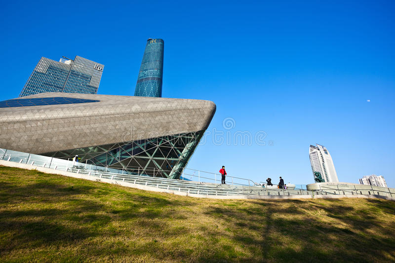 Porslin för Guangzhou operahus arkivfoto