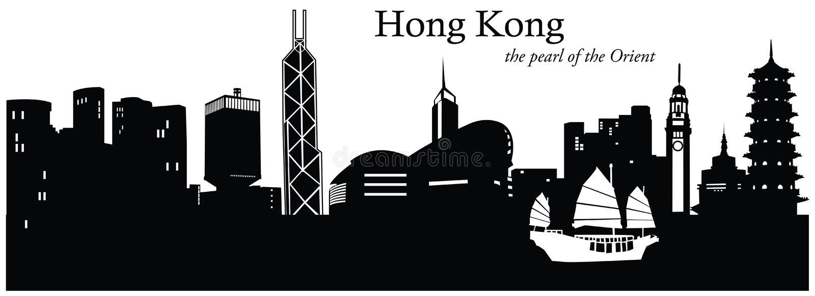 porslin Hong Kong vektor illustrationer