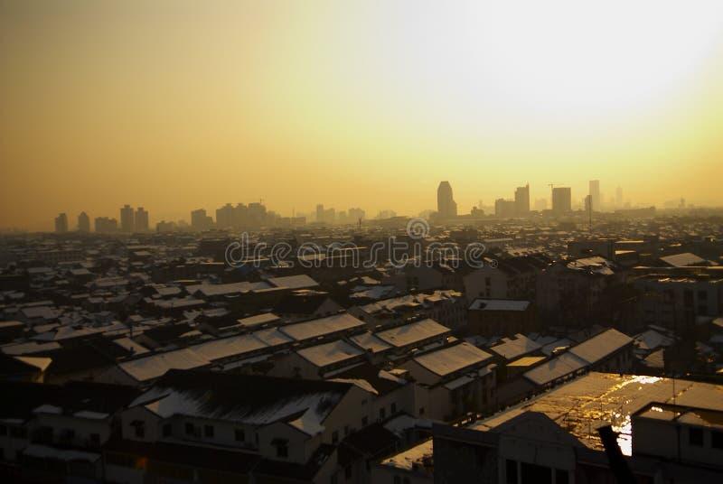 porslinafton suzhou royaltyfri foto