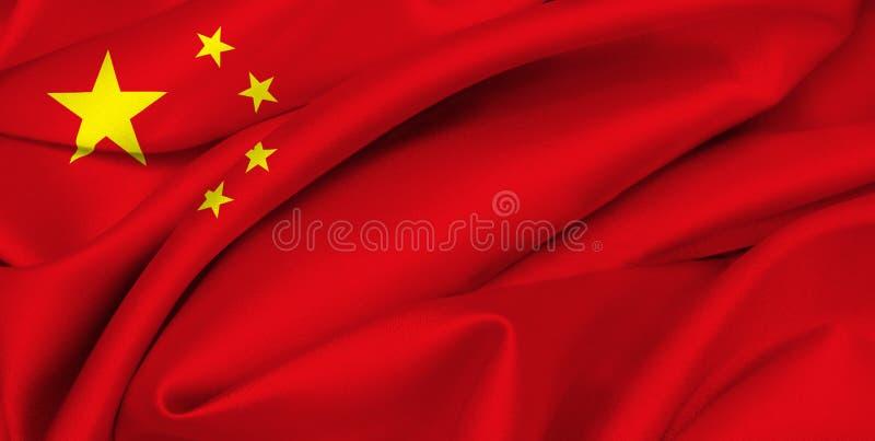 porslinkinesflagga arkivfoto
