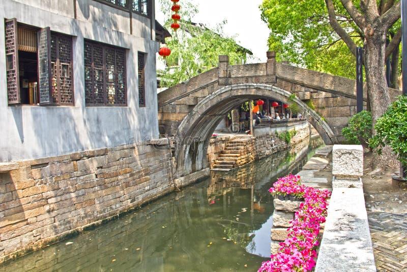 porslinstadssuzhou vatten royaltyfria bilder