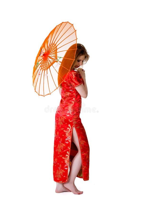 porslinstilkvinna arkivfoton