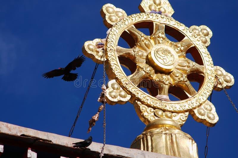 porslintempel tibet royaltyfri fotografi