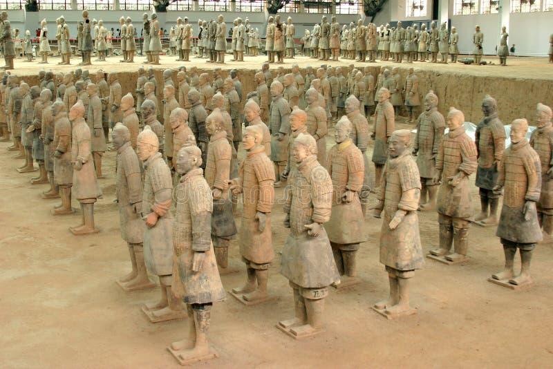 porslinterrakottakrigare xian royaltyfria bilder