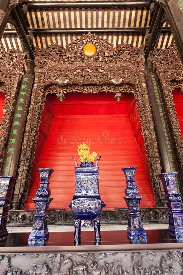 Porslinteservis i Guangdong Folk Art Museum arkivfoton