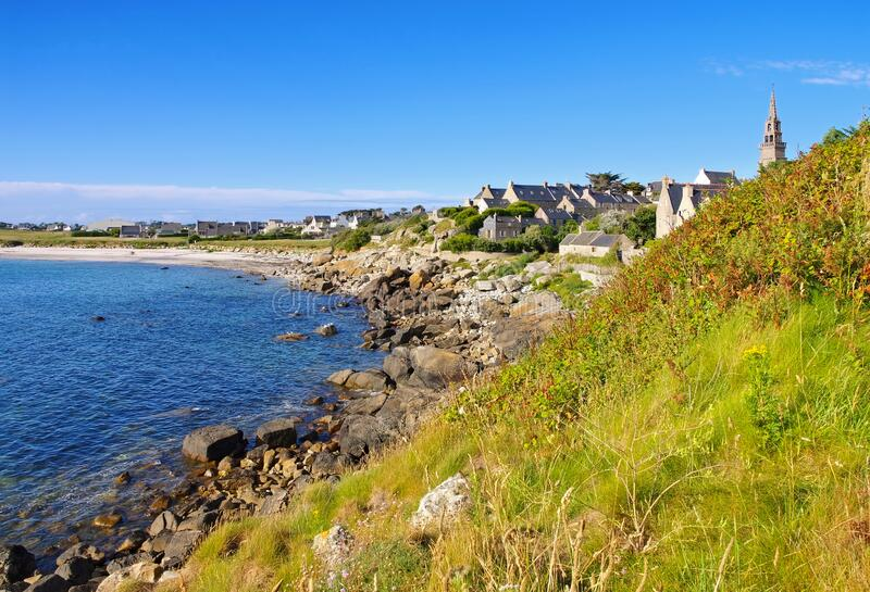 Porspoder in Finistere in Brittany royalty free stock photography