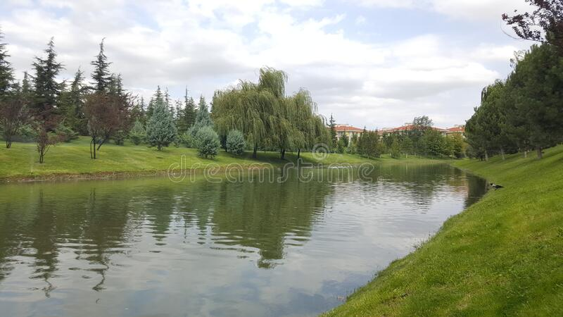 Porsuk river. Eskisehir is a modern city in center of Anatolia stock photography
