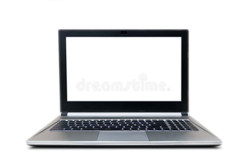 Portátil cinzento e preto sem o teclado do sinal imagens de stock