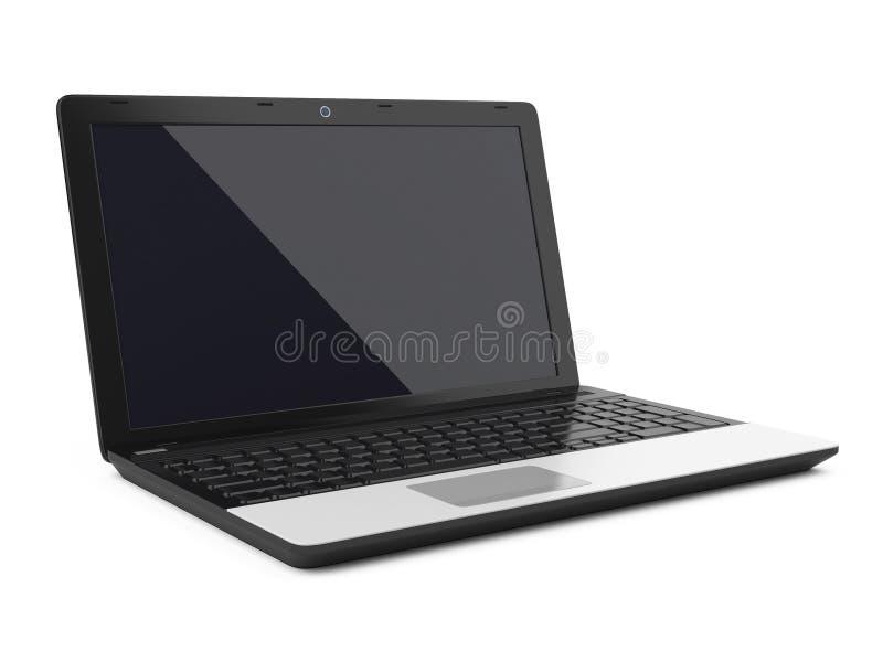 Portátil, computador moderno ilustração do vetor