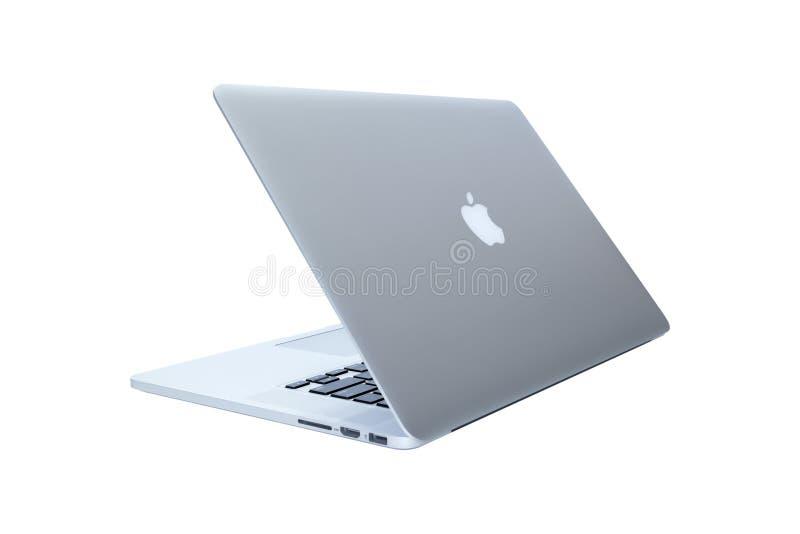 Portátil de MacBook desenvolvido por Apple Inc imagens de stock