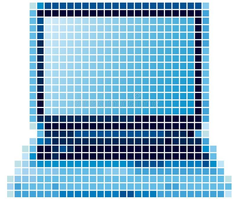 Portátil do pixel ilustração royalty free