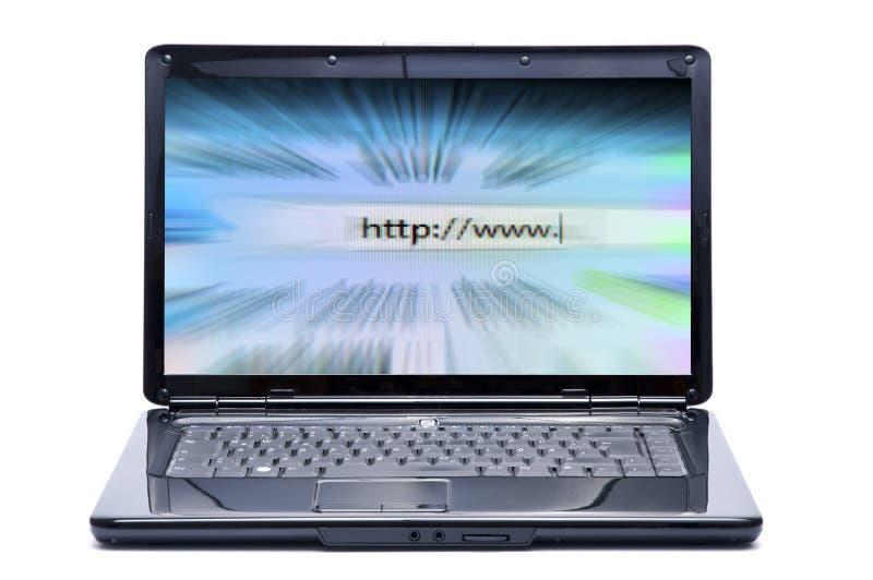 Portátil e Internet imagem de stock royalty free