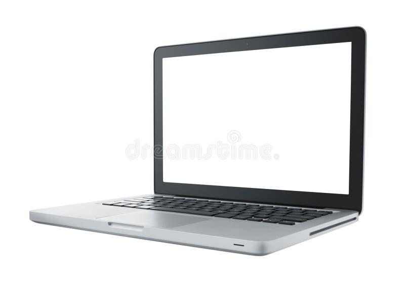 Portátil isolado do computador imagens de stock
