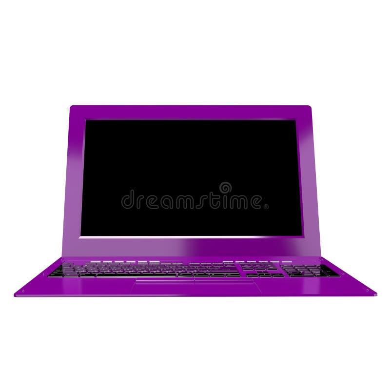 Portátil moderno alto inovativo do computador fotografia de stock royalty free