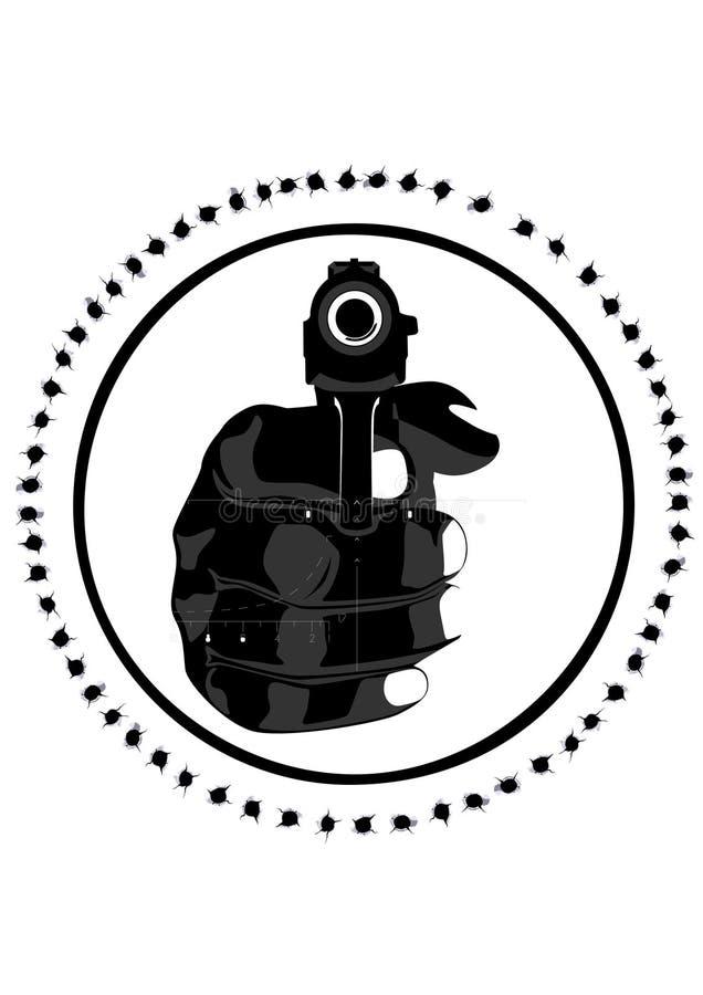 Portée de pistolet et de tireur isolé illustration libre de droits