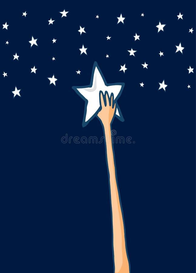 Portée pour les étoiles ou le succès illustration stock