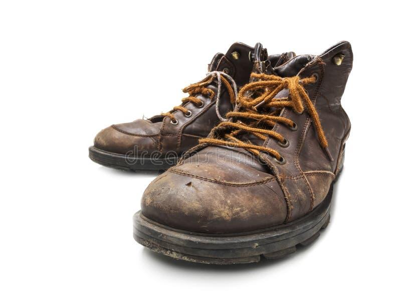 Portées chaussures sur le fond blanc images libres de droits