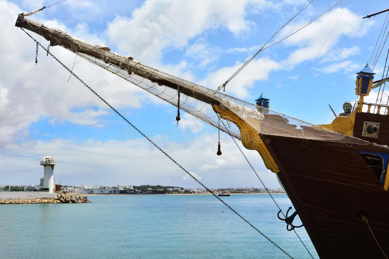 Port à Agadir, Maroc, Afrique photos stock