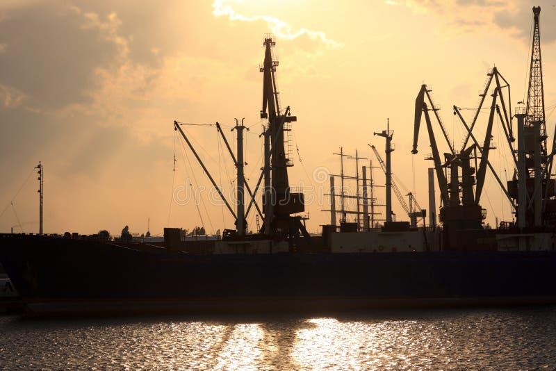 Port à Odessa image libre de droits