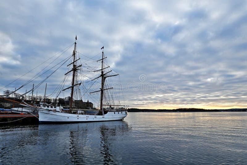 Port à Oslo photo libre de droits