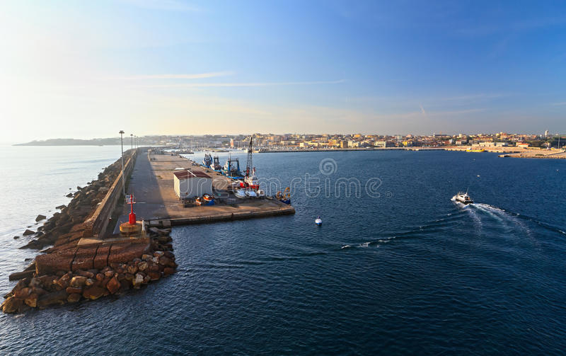 Port à Porto Torres image stock