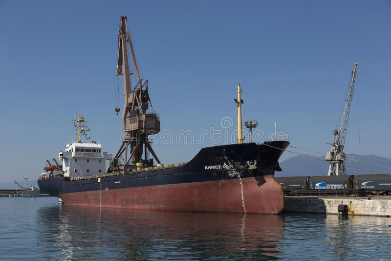 Port à Rijeka, Croatie sur l'Adriatique photo stock