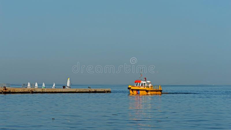 Port à Trieste image stock