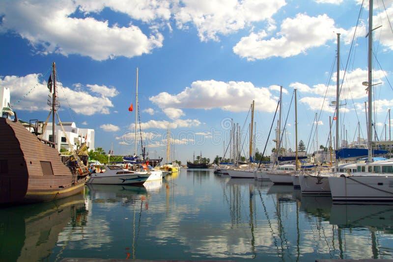 Port à Tunis photos libres de droits