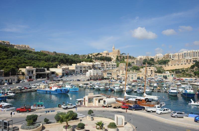 Port, île de Gozo, Malte. images libres de droits