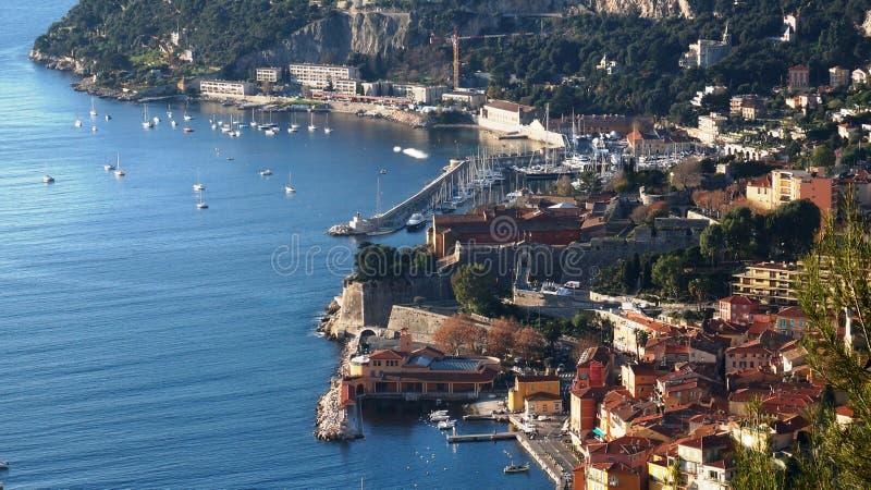 Port Ładni i Luksusowi jachty Francja zdjęcia royalty free