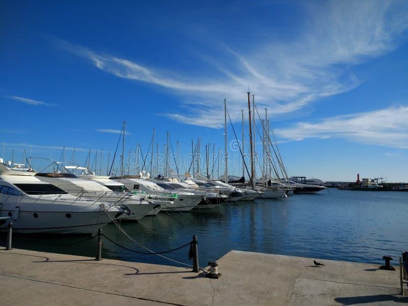 port & łodzie fotografia stock
