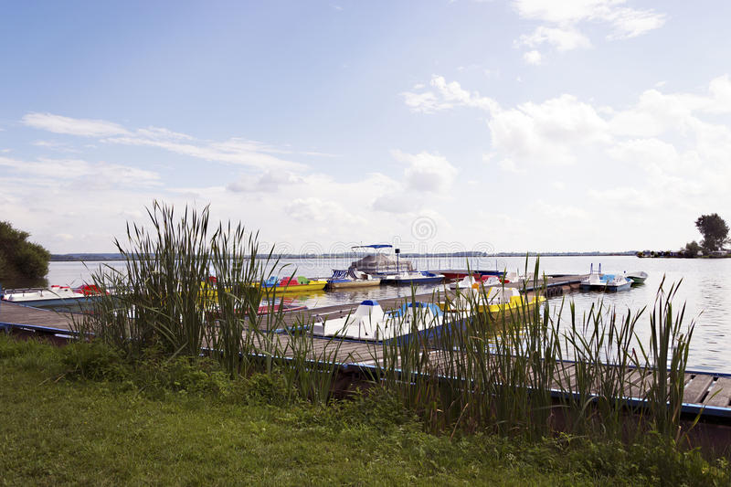 Download Port stock photo. Image of pier, port, grass, water, boat - 26528538
