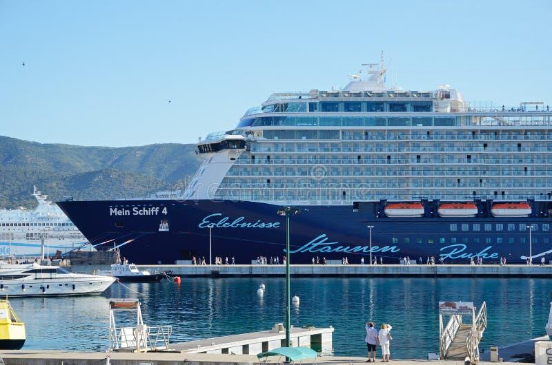 The port of Ajaccio stock photos
