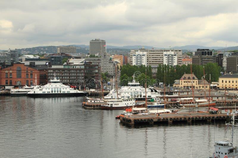 Port, Akerbrygge bulwar Oslo norway zdjęcia royalty free