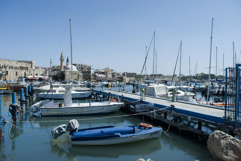 Port in Akko (Acre), Israel royalty free stock photography