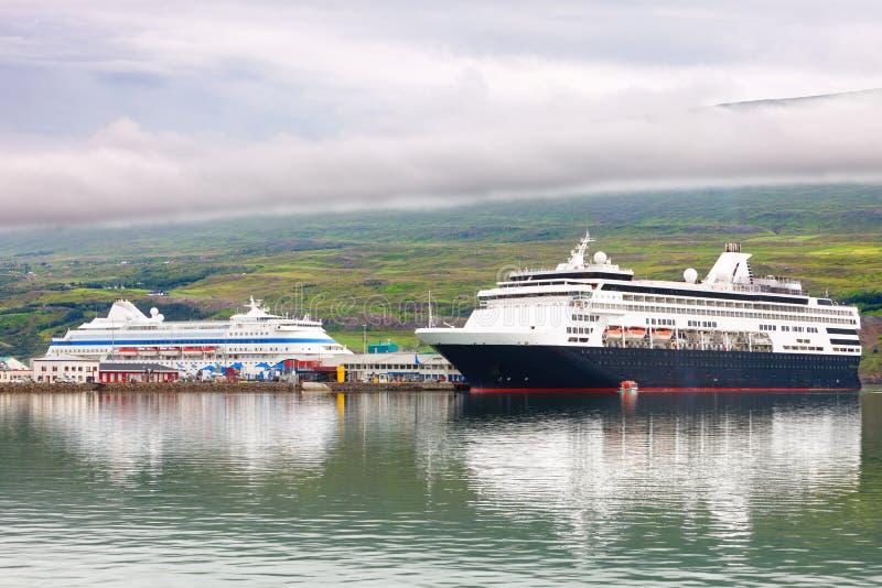 Port akureyri, Iceland zdjęcie royalty free