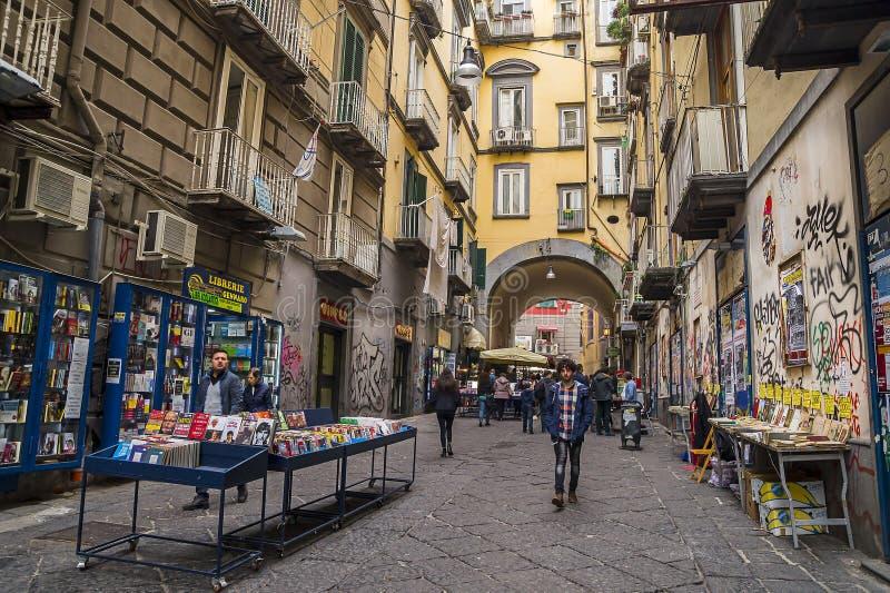 Port'Alba kvarleva av en av stadsportarna av Naples royaltyfri fotografi