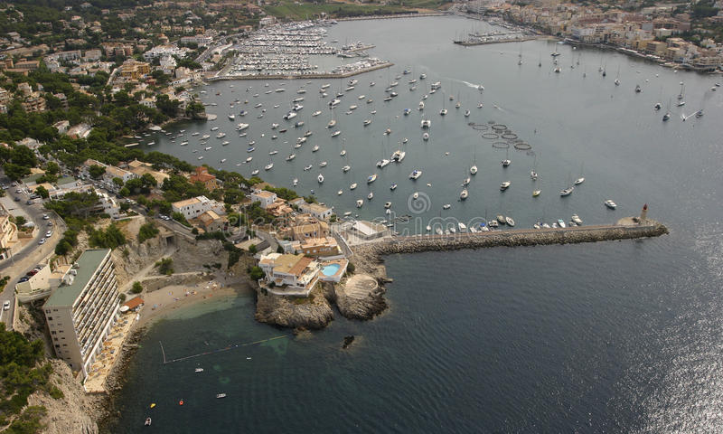 Port Andratx in mallorca stock image