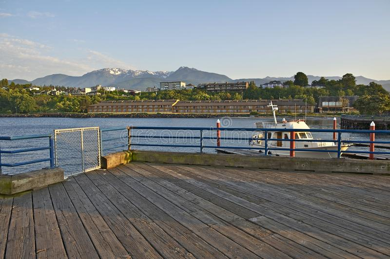 Port Angeles Marina. Port Angeles, Washington State, United States. Olympic Mountains in a Distance. Port Angeles Marina. American Cities Photo Collection royalty free stock photo