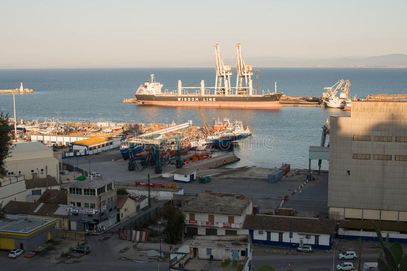 Port. In Annaba city. Algeria stock photos