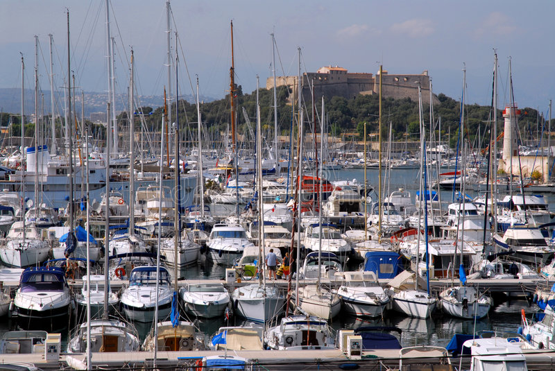 Port of Antibes royalty free stock image