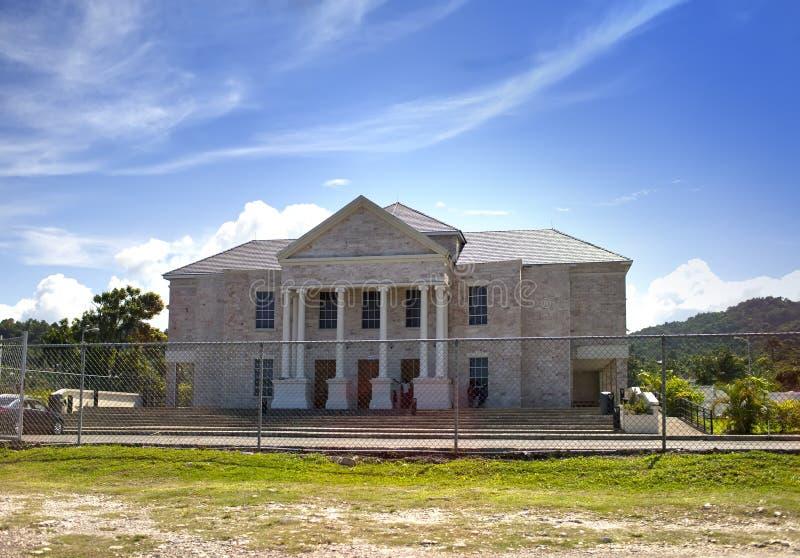 Port Antonio, nouveau tribunal, Jamaïque image libre de droits